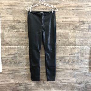 Mother black faux leather pants